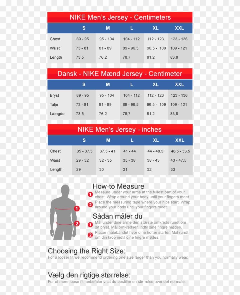 football jersey size chart