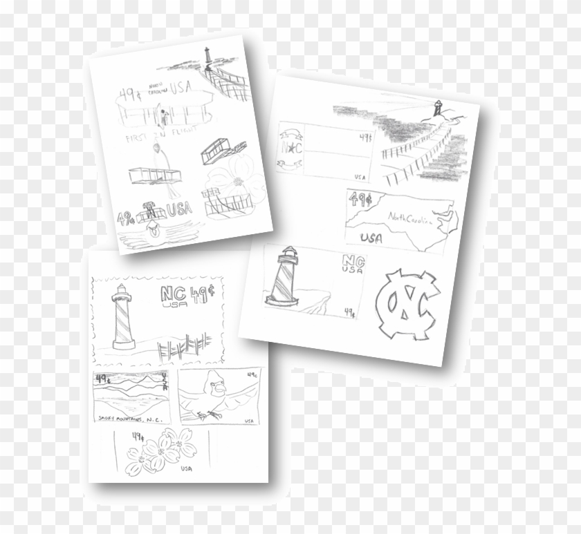 An Outline Of The States' Borders - Sketch Clipart #5780132