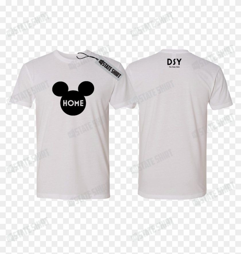 Disney Ears State Home T Shirt, Customizable Options - Active Shirt Clipart #5785627