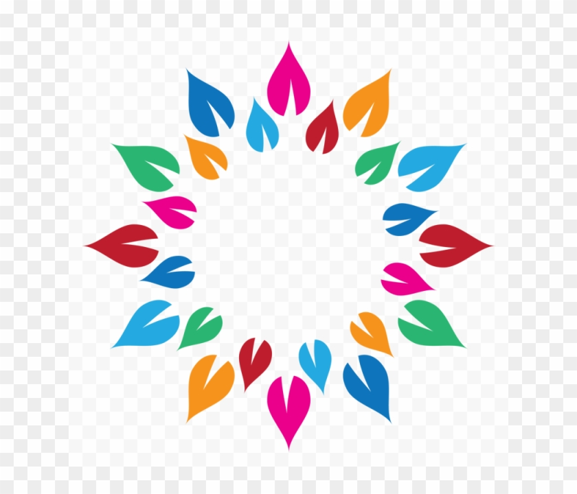 Colorful Vector Circle - Happy Holi Stickers For Whatsapp Clipart #5793649