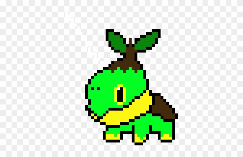 Turtwig Pixel Art Minecraft Pokemon Hd Png Download