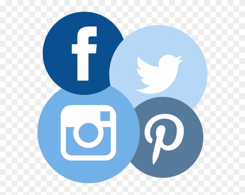 Social Media Circle Icons - Social Media Logos Red Background Clipart #582936