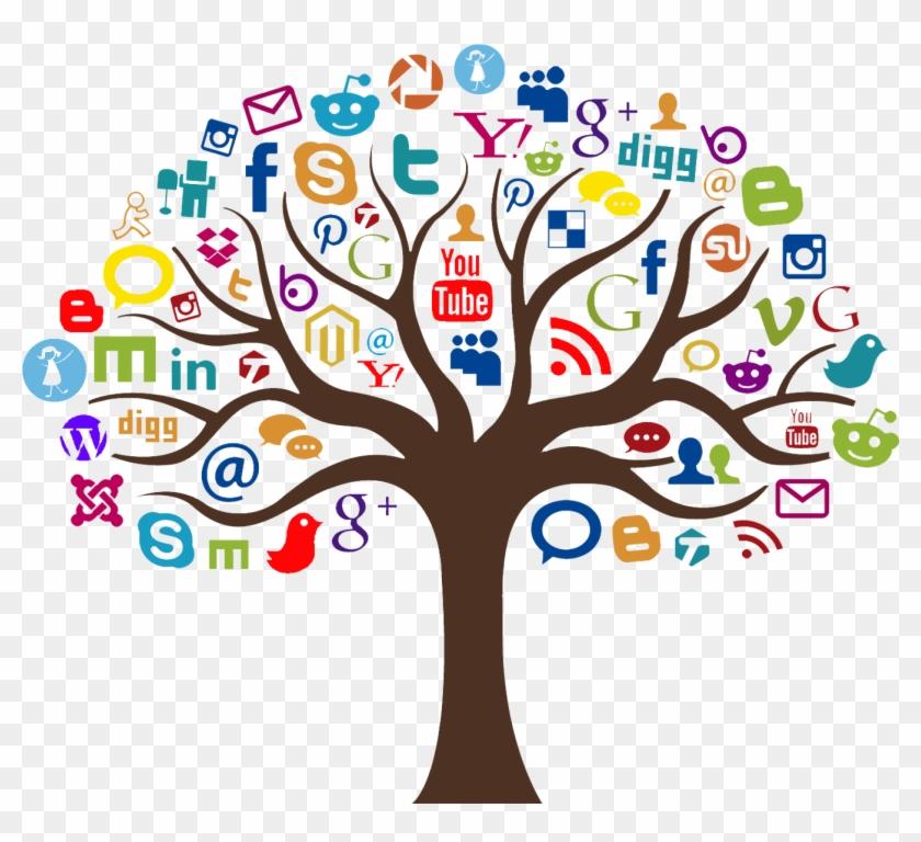Tree Clipart Social Media - Social Media Marketing Tree - Png Download #583165