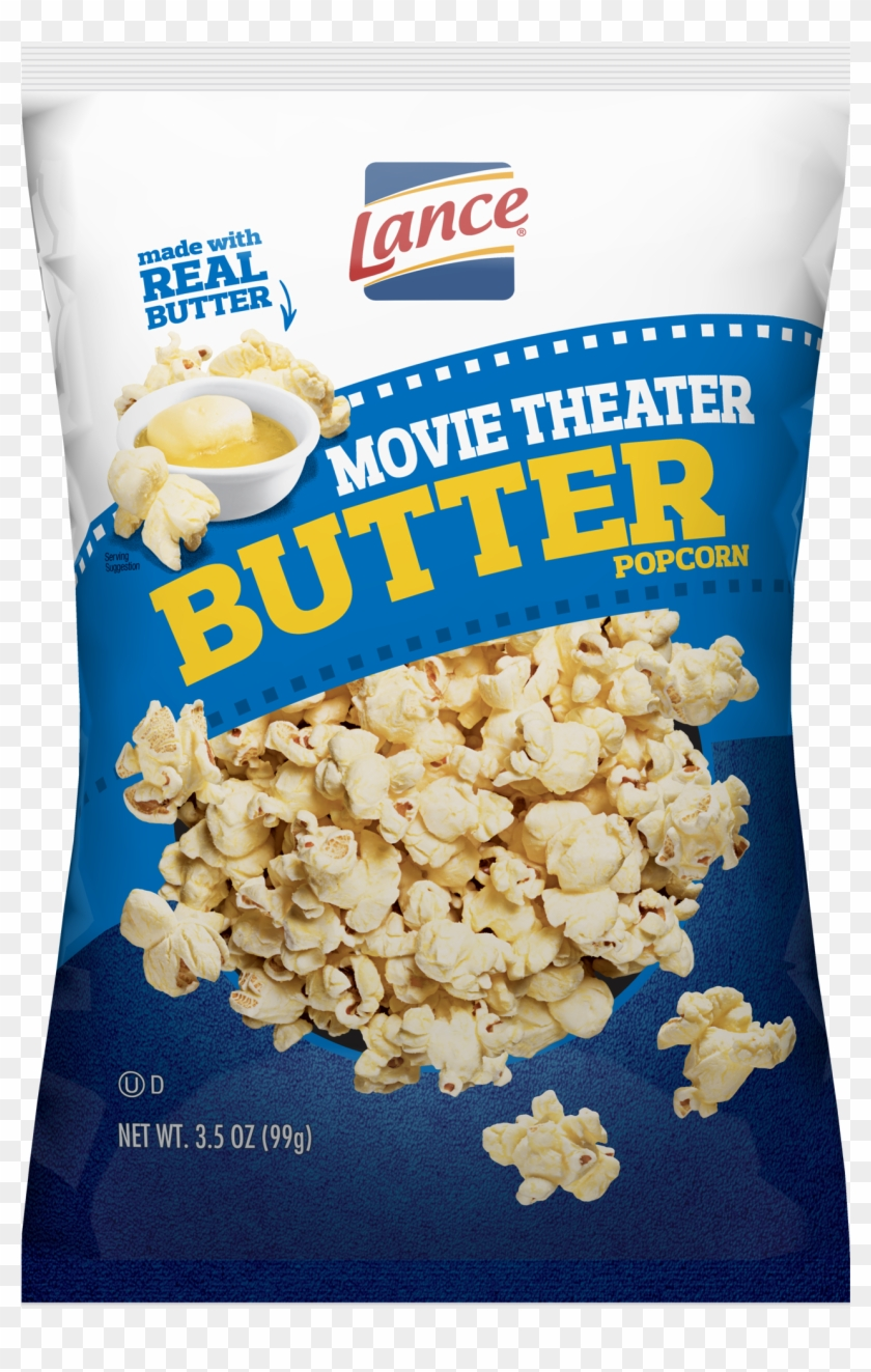 Lance Popcorn Movie Theater Butter Clipart 584722 Pikpng