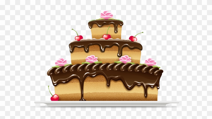 Cake Png Vector - Cake Free Vector Png Clipart #589285