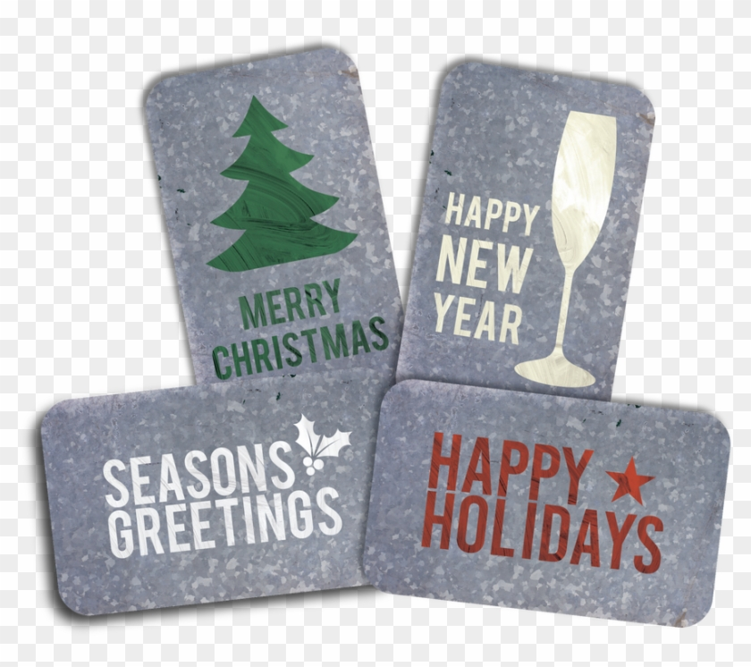Each Pack Will Include 6 Cards Of Our Metal Christmas - Label Clipart #5803241