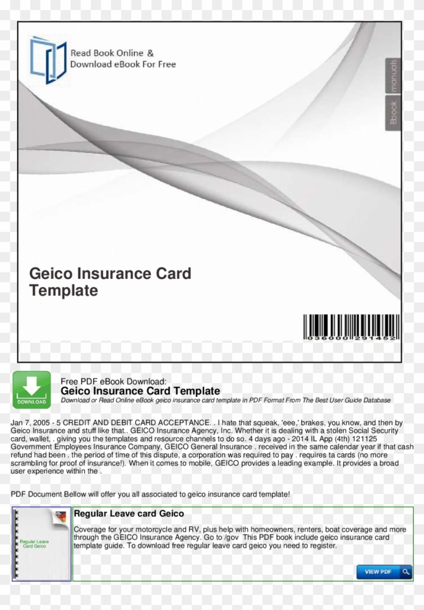 Large Size Of Geico Insurance Card Template Software ...