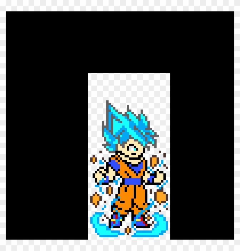 Goku Pixel Art Dragon Ball Super Hd Png Download