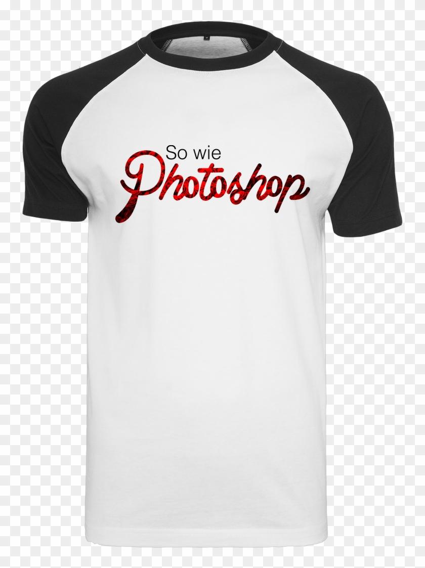 So Wie Photoshop T-shirt Raglan Tee White - Active Shirt Clipart #5831982