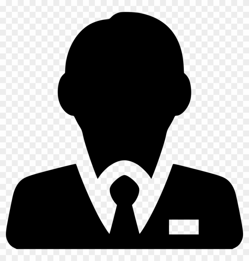 Businessman Comments - Customer Logo Black White Clipart@pikpng.com