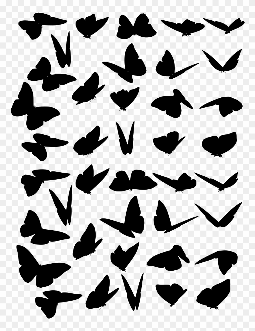 butterfly swarm stock by clipart freeuse library - transparent butterflies  PNG image with transparent background | TOPpng