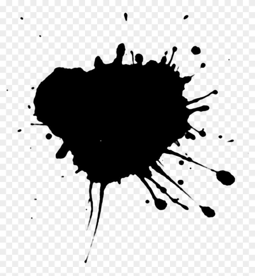 Black Colour Splash Png