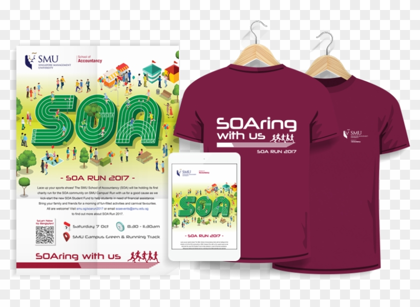 Smu School Of Accountancy Run 2017 Campaign Poster - Active Shirt Clipart #5842441