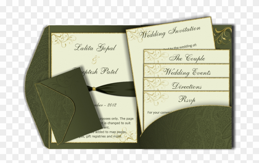 Wedding Invitation Card Template 142793 - Wedding Format For 2 Pages India Clipart #5846300