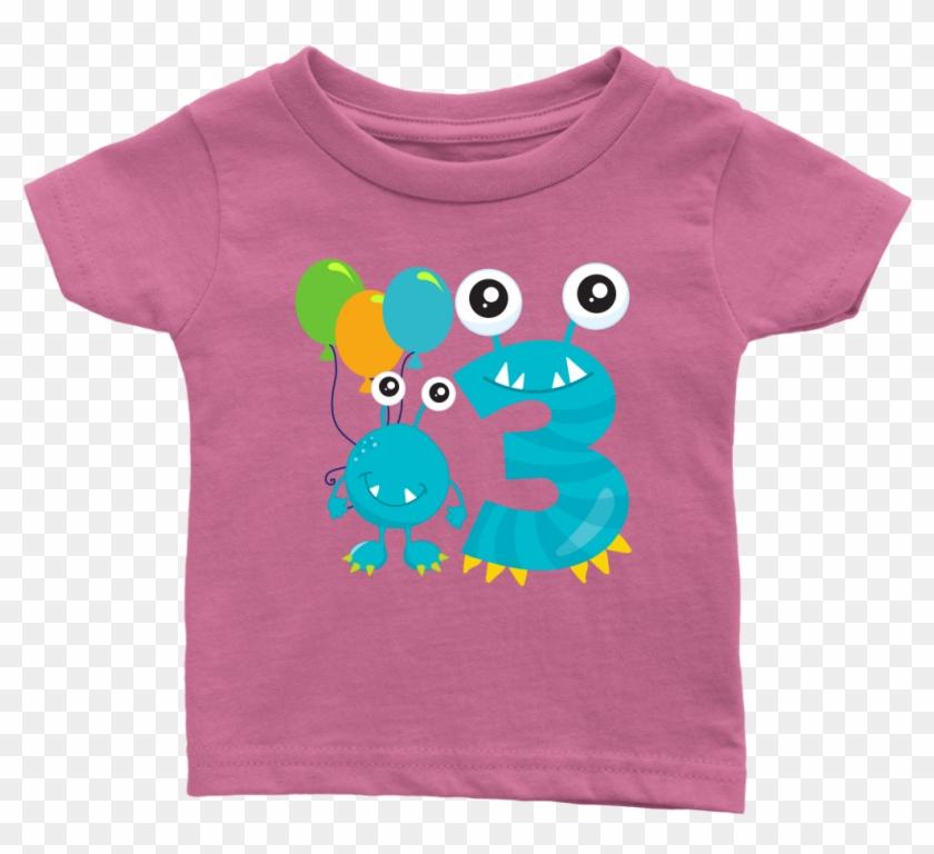 3rd Birthday Baby T-shirt - Infant Bodysuit Clipart #5846431