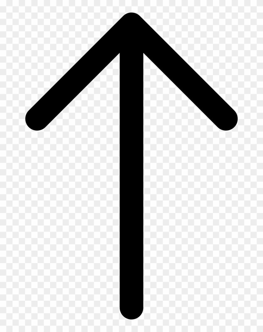 Up Arrow Comments - Arrow Up Svg Clipart #5846764