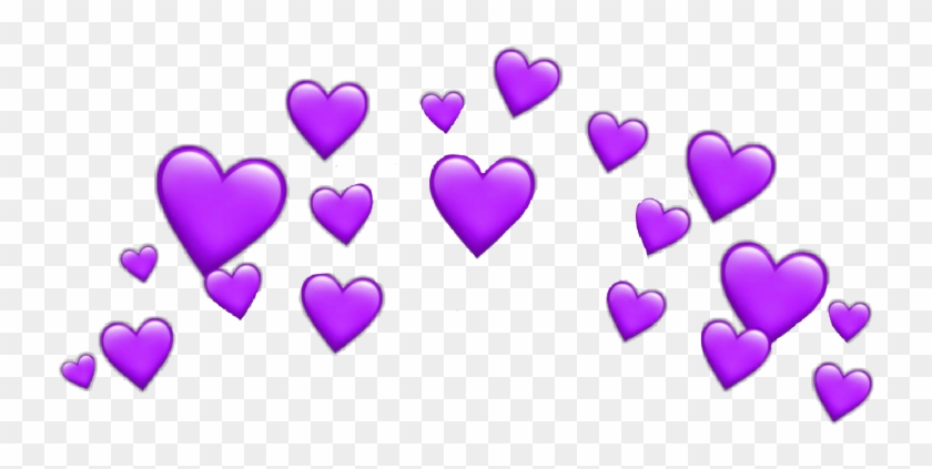 #hearts #heart #purple #snapchat #filter #crown #heartcrown - Blue Heart Snapchat Filter Clipart #5859255