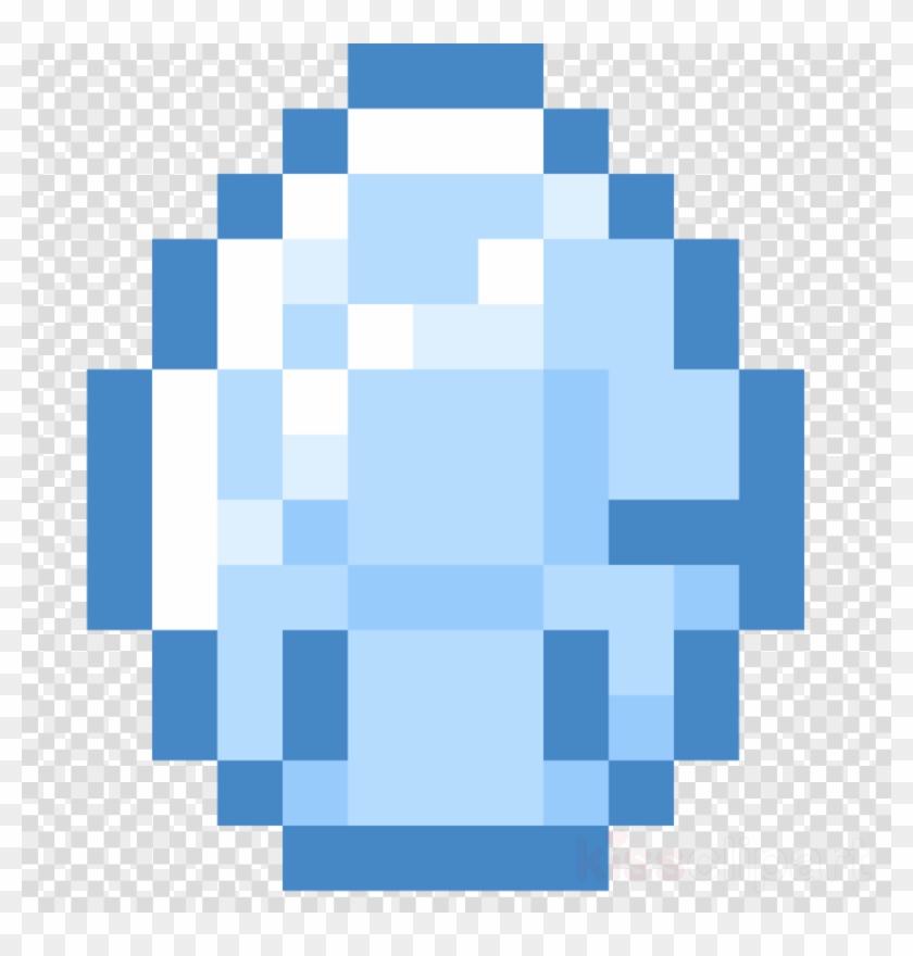 Diamond Minecraft Png - Pixel Art Minecraft Diamante Clipart #5870077