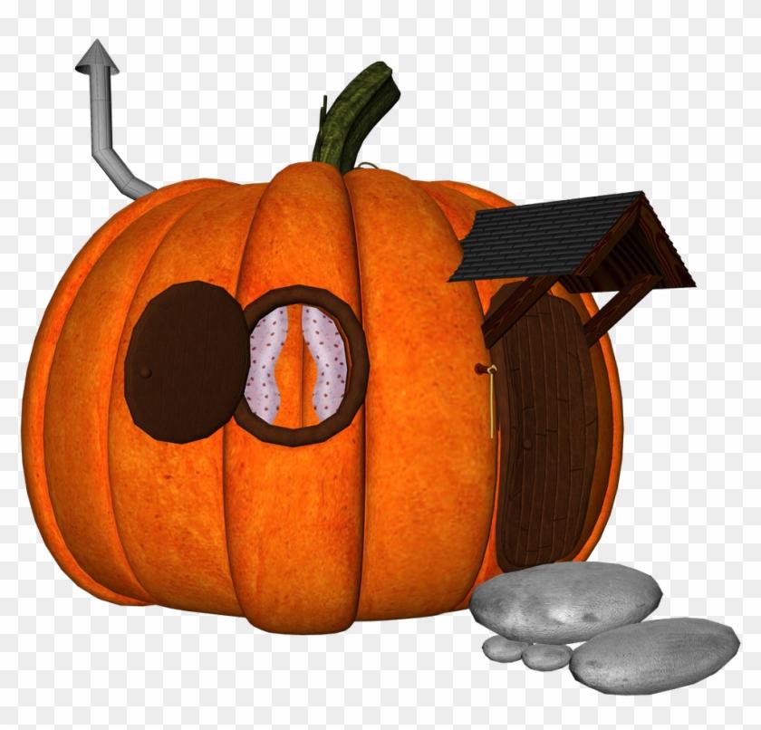 Pumpkin House - Jack-o'-lantern Clipart #5870668