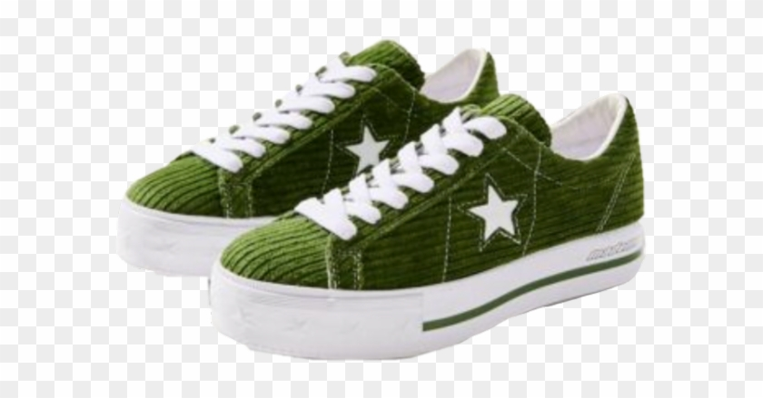 #moodboard #shoes #green #freetoedit - Converse One Star Corduroy Platform Clipart #5873709