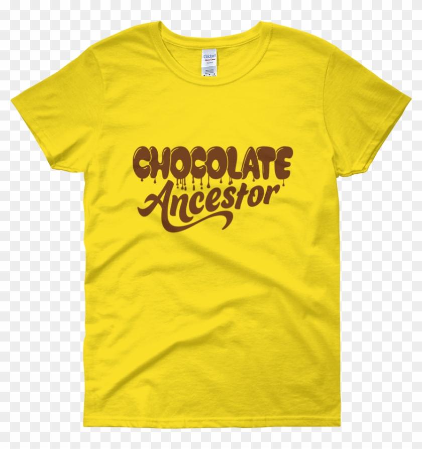 Dripping Chocolate Ancestor Ladies Short Sleeve T-shirt - Michigan Wolverines Volleyball Clothes Clipart #5899104