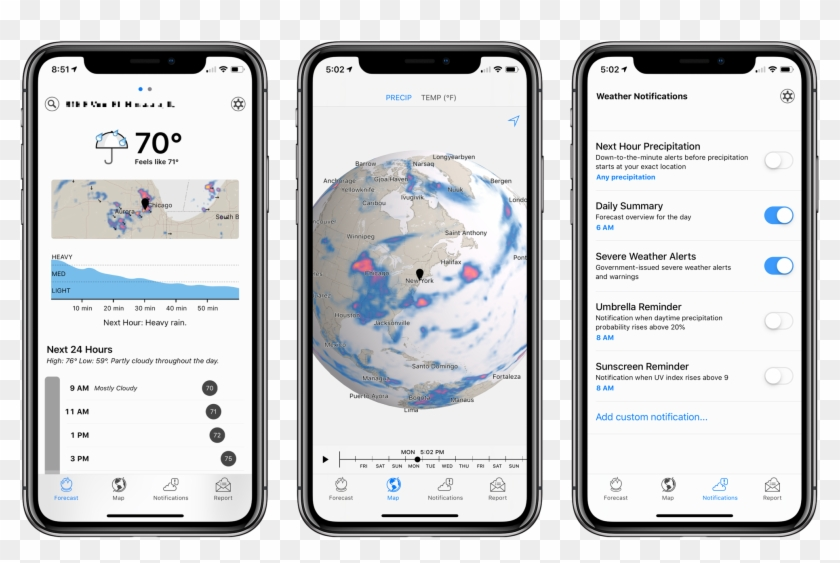Dark Sky Update Consolidates Weather Data In A Single - Haptic Touch On Iphone Xr Clipart #590209
