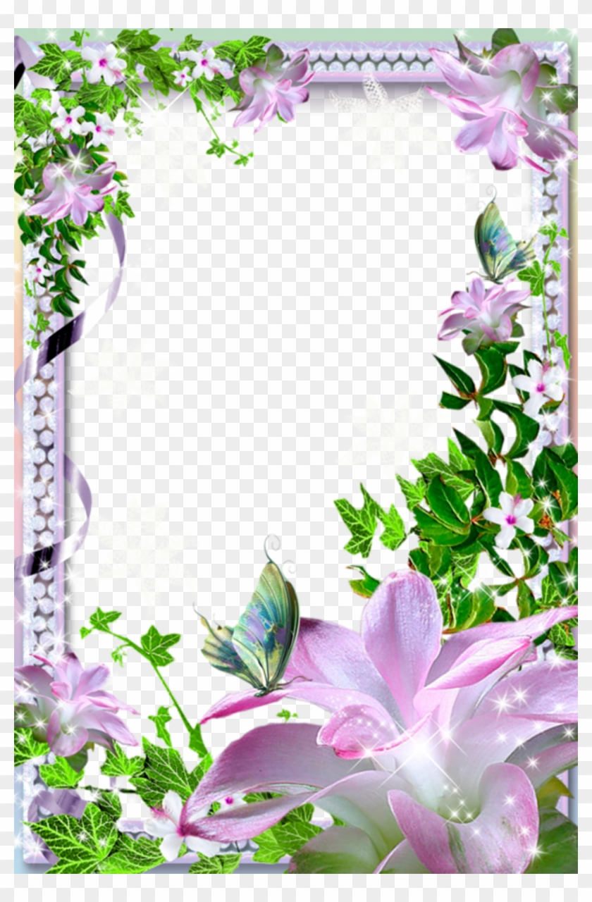 Free Icons Png - Beautiful Flower Photo Frames Clipart #591373
