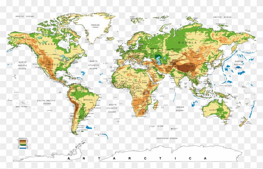 Hd World Map - Carte Du Monde Hd Clipart #591782