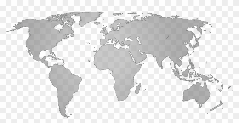 World Map Clipart Grey World - Enewetak Atoll World Map - Png Download@pikpng.com