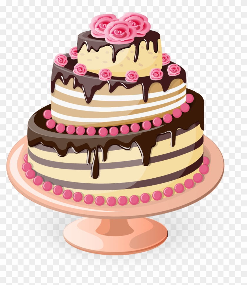 Happy Birthday Cake Png - Illustration Cake Clipart #592238
