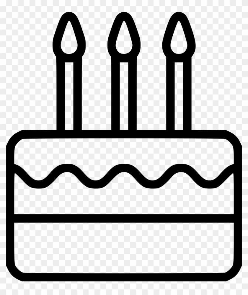 Birthday Cake Comments Icon Birthday Cake Png White Clipart 592424 Pikpng