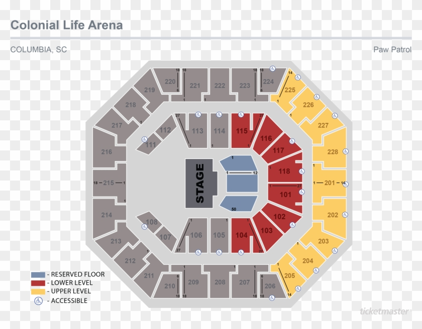 Colonial Life Arena Seating