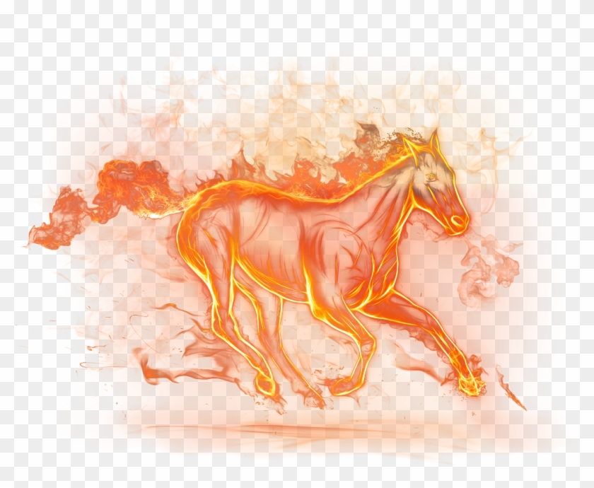 Beautiful Fire Horse Png Clipart Picture - Png Images Fire Download Transparent Png #595214