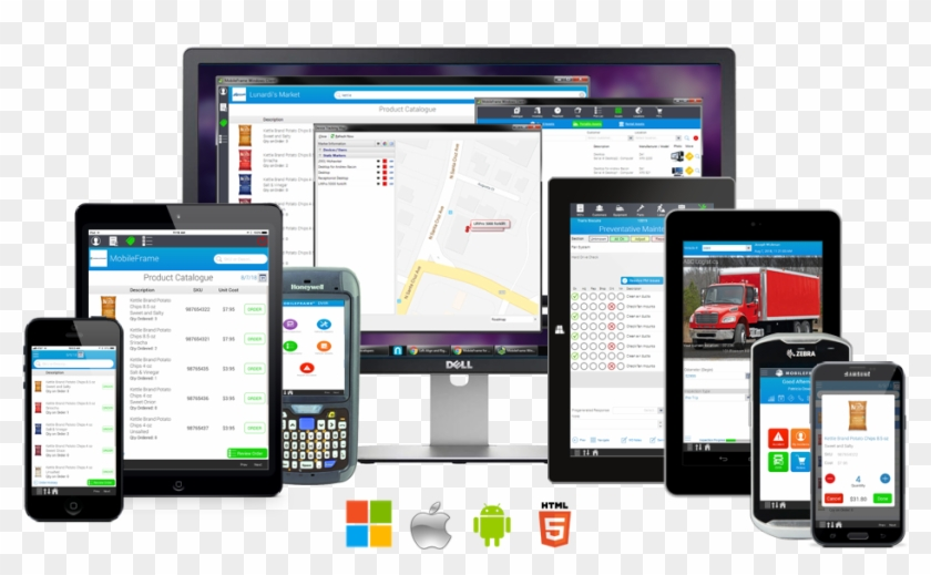 Cross-platform Mobile Apps For Ios, Android, Windows - Mobile Software Photo Png Clipart #595855