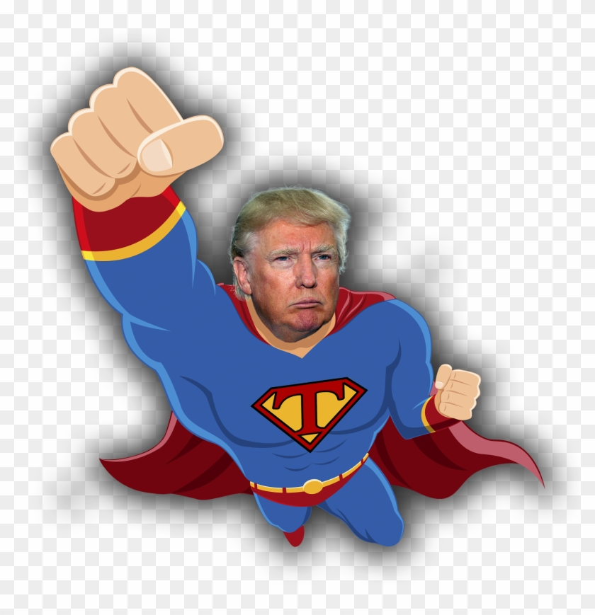 The - Donald Trump As Superman Clipart #599908