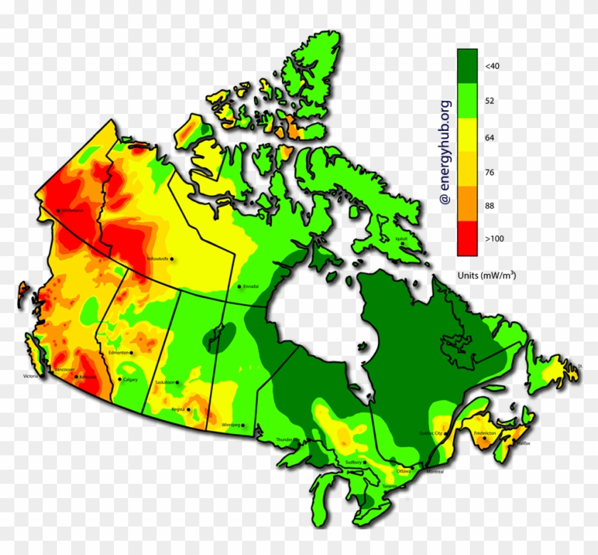 Geothermal Power Map Canada - Geothermal Energy Used In Canada Clipart #5902493