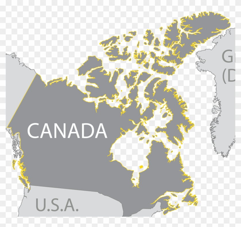 Canada Map - Three Countries Make Up North America Clipart #5902574