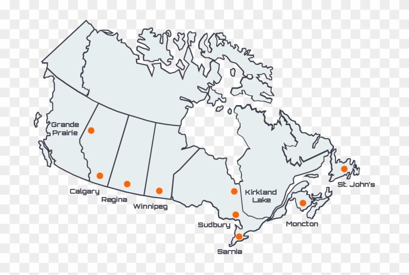 Serving All Of Canada - Nova Scotia On Us Map Clipart #5903016