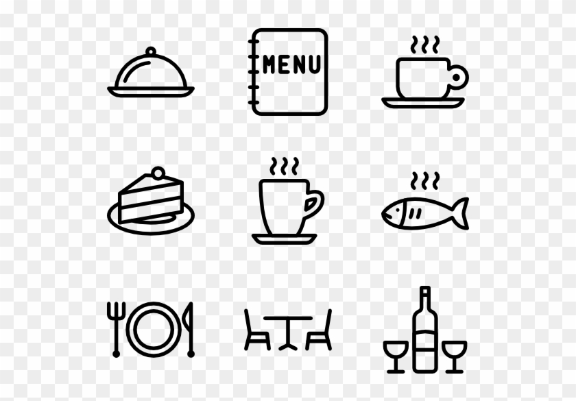 Restaurant - Hand Drawn Social Media Icons Png Clipart #5903147