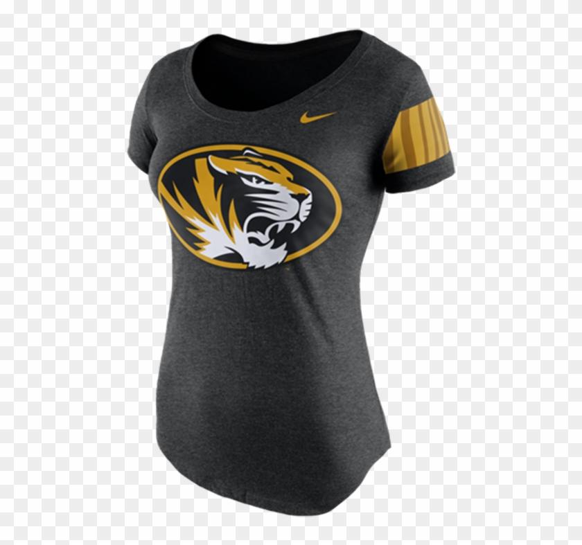 Nike Missouri Tigers Womens Black Dna Tee Scoop T-shirt, - Active Shirt Clipart #5907413