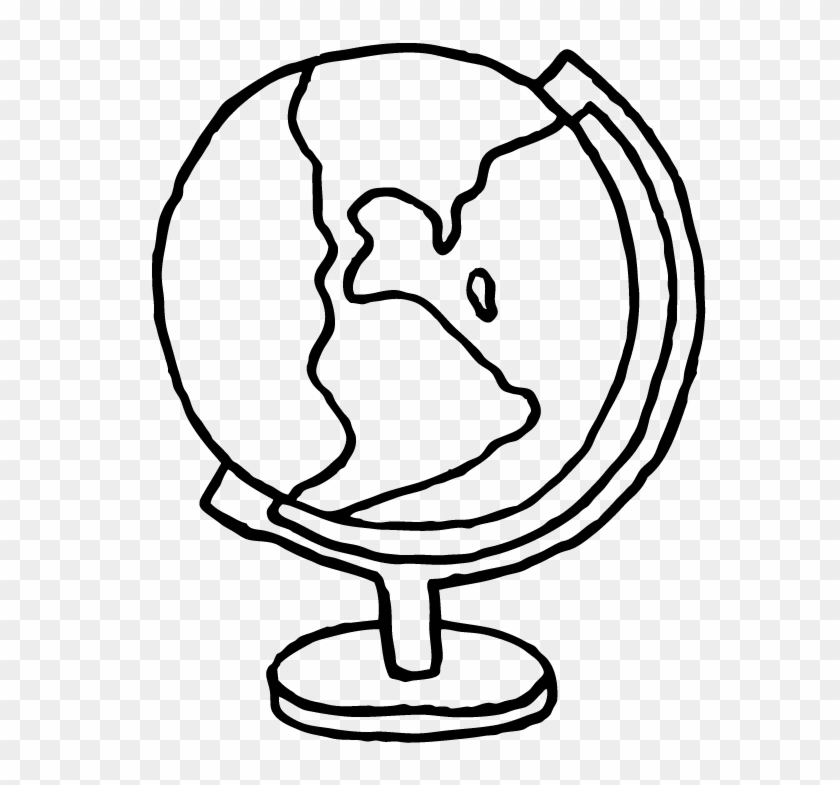 Drawing Outline Globe - Easy Drawing Of A Globe Clipart #5908789