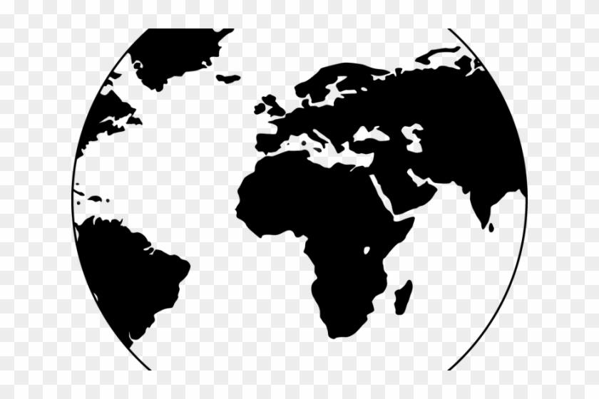 Globe Graphic - World Map Globe Vector Clipart #5908895