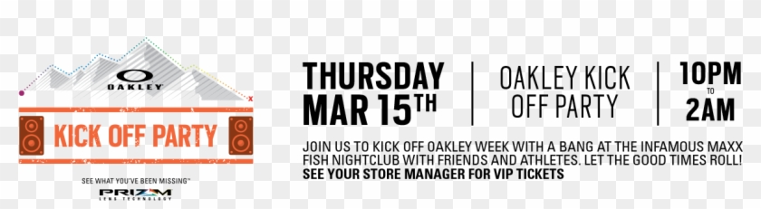 Kick Off Party - Oakley Clipart #5921552