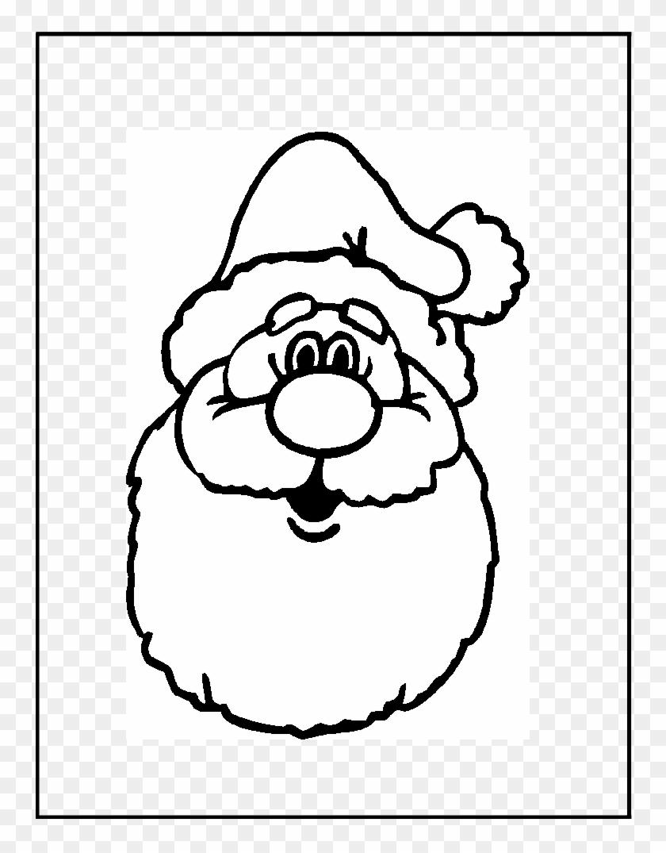 Gallery Santa Head Coloring Page - Christmas Door Hangers ...