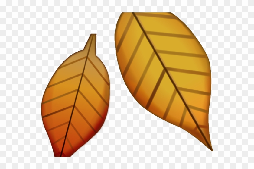 Autumn Leaves Clipart Emoji - Fall Leaves Emoji Png Transparent Png #5939175