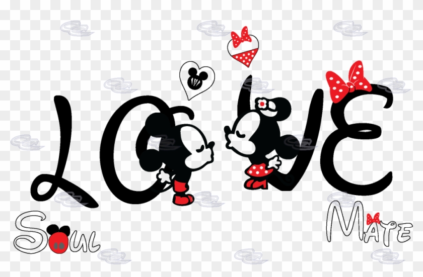 Mickey Mouse Minnie T Shirt The Walt - Mickey And Minnie Mouse Couple Shirt Clipart #5945234