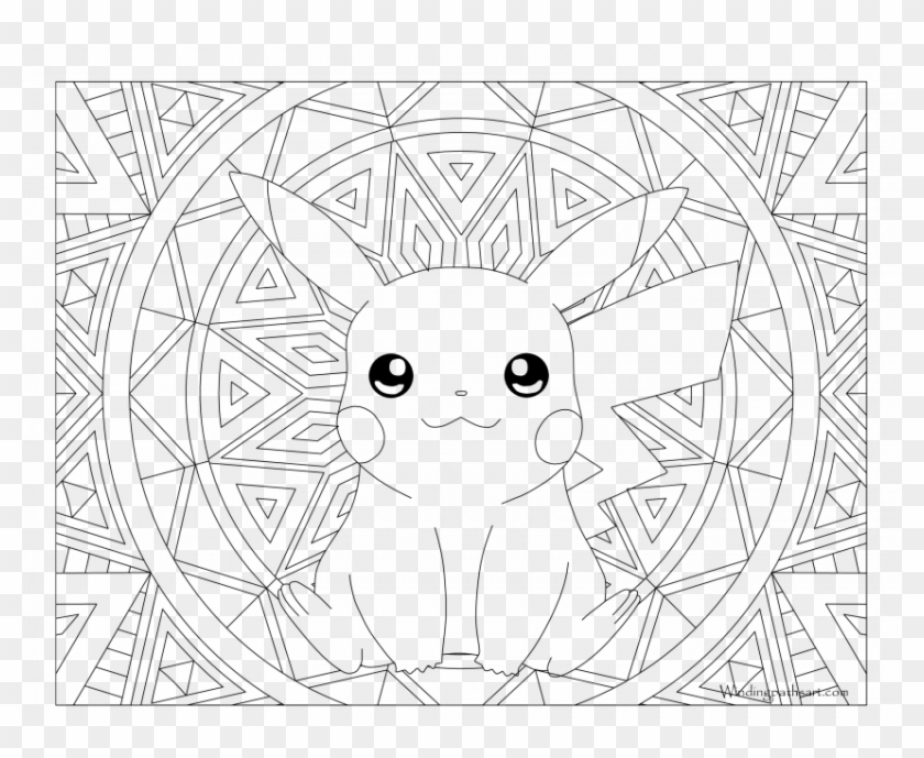 Extraordinary Pokemon Pikachu Coloring Pages Freeload Adult Coloring Page Pikachu Clipart 5953455 Pikpng