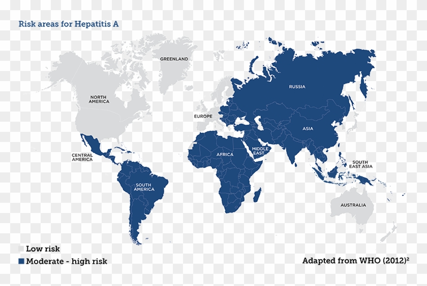 Disease Risk Map - Simple High Quality World Map Clipart ...