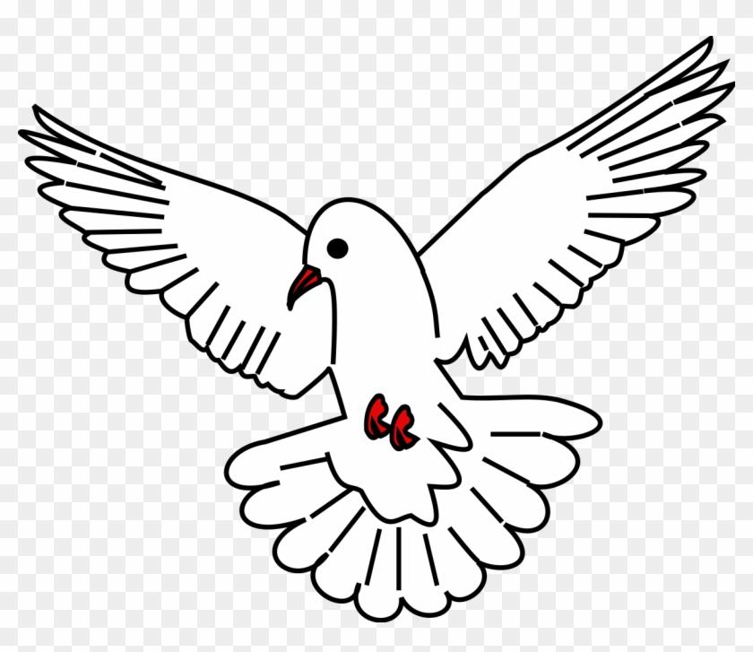 Drawn Dove Svg Colombe Blason Clipart 5990153 Pikpng