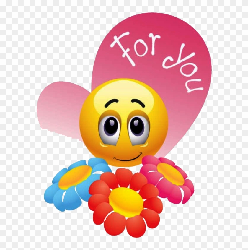 Flowers And Smiley Faces , Png Download - My Heart For You Emoji Clipart #5990889